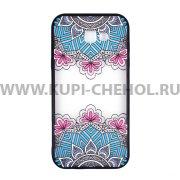Чехол-накладка Samsung Galaxy A7 (2017) A720 Кружево 3613