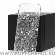 Чехол-накладка Samsung Galaxy S8 Plus Kruche Skull White