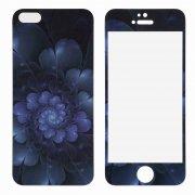 Защитное стекло Apple iPhone 5/5S/5c/SE DF 2в1 Flower 0.33mm