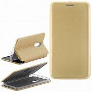 Чехол книжка Xiaomi Redmi Note 4X Fashion Case с визитницей золотой