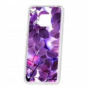 Чехол-накладка Huawei Mate 20 Pro Kruche Print Purple leaves