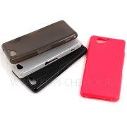Чехол-накладка Sony Xperia Z2 Compact / Mini 6914 чёрный глянцевы