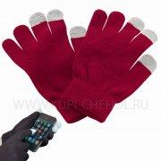 Перчатки  для  сенсора  вид 1  красн