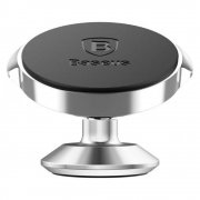 Автодержатель магнитный на липучке Baseus Small Ears Suer-B0S Silver