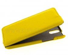 Чехол флип HTC One E8 UpCase жёлтый
