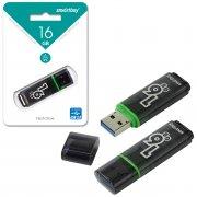 Флеш Smartbuy Glossy 16Gb Dark Gray USB 3.0