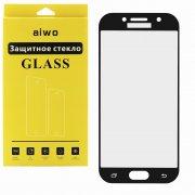 Защитное стекло Samsung Galaxy A3 (2017) A320 Aiwo Full Screen черное 0.33mm