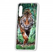 Чехол-накладка Samsung Galaxy A90 5G Kruche Print Крадущийся тигр