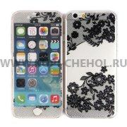 Защитное стекло Apple iPhone 6 4.7 9344 2 в 1 черное