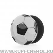 Попсокет M4 Футбольный мяч Черный