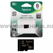Micro SD 8Gb class 10 к/п Apacer UHS-I