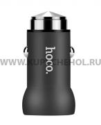 Автомобильный адаптер 2.1A 1 USB Hoco Z4 Qualcomm QC2.0 Black