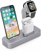 ДОК-станция для Apple Iphone/Apple Watch/AirPods COTEetCI Base 19 Space Grey