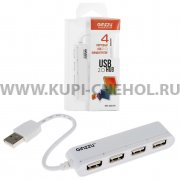 ХАБ USB-разветвитель GiNZZU GR-434UW на 4 порта