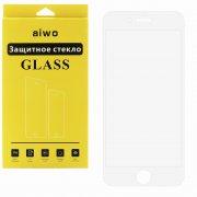 Защитное стекло Apple iPhone 6/6S Aiwo Full Screen белое 0.33mm