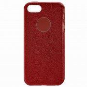 Чехол-накладка Apple iPhone 5/5S 10028 с блестками красный
