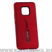Чехол-накладка Huawei Mate 20 Pro 42003 с подставкой красный