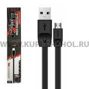 USB - micro USB кабель Remax RC-001m Black 1м