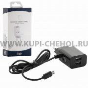 СЗУ Micro-USB 2.1A 2USB Ubik UHS22M чёрное