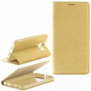 Чехол книжка Samsung Galaxy S6 G920 New Case 001 золотой