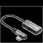 Аудио-переходник для Type-C 2-in-1 Baseus Silver