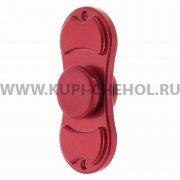 Спиннер металлический 2 луча красный