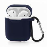 Чехол для Apple AirPods силиконовый тёмно-синий