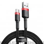 Кабель USB-Type-C Baseus Cafule CATKLF-BG1 Red/Black 1m 3A
