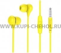 Наушники с микрофоном HOCO M13 Yellow