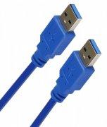 Кабель USB(M)-USB(M) Smartbuy K860 синий 1.8m