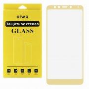 Защитное стекло Xiaomi Redmi 5 Aiwo Full Screen золотое 0.33mm