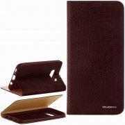 Чехол книжка Samsung Galaxy S8 Plus Nuoku коричневый
