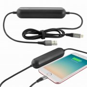 Power Bank-кабель iPhone 5 2000 mAh Hoco U22 Black 1.2m
