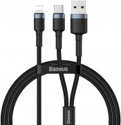 Кабель USB/Type-C-iP Baseus Cafule Black 1.2m