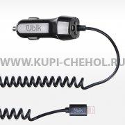 АЗУ iP+1USB Ubik UCS12L 1m Black