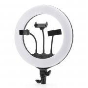 Кольцевая лампа без штатива диаметр 34 см Jmary Black