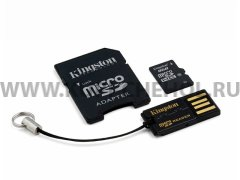 Micro SD 8Gb class 10 к/п + USB Reader + адаптер Kingston Mobility Kit