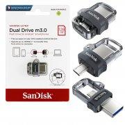 Флеш OTG USB-Micro Sandisk Dual Drive Ultra 128Gb USB 3.0
