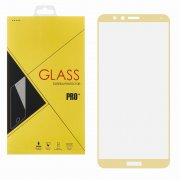 Защитное стекло Huawei Honor 7X Glass Pro Full Screen золотое 0.33mm