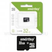 Micro SD 32Gb class 10 к/п Smartbuy