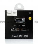 АЗУ 2USB+кабель USB-Micro Hoco Z1 Black