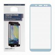 Защитное стекло Samsung Galaxy J6 2018 Red Line Full Screen синее 0.33mm