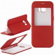 Чехол книжка Samsung Galaxy S7 Book Case Вид2 с окном красный