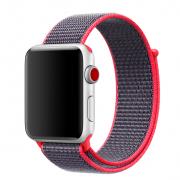 Ремешок для Apple Watch 38mm тканевый на липучке оранжевый