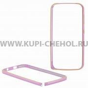 Чехол-бампер Fly IQ4410 Quad Phoenix металл светло-розовый