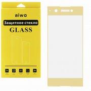 Защитное стекло Sony Xperia XA1 Plus Aiwo Full Screen золотое 0.33mm