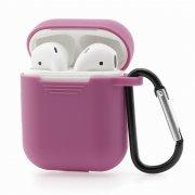Чехол для Apple AirPods силиконовый фиолетовый