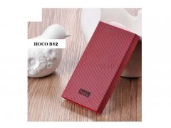 Power Bank 13000 mAh Hoco B12A Carbon Fiber Red wine