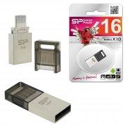 Флеш OTG USB-Micro Silicon Mobile X10 16Gb USB 2.0