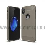 Чехол-накладка Apple iPhone X 9508 серый